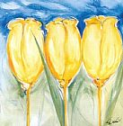 3 Yellow Tulips